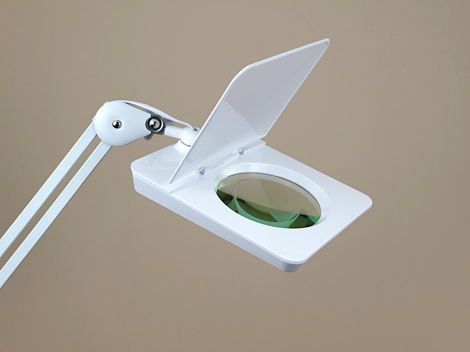 Wandhalterung für Lupenleuchten mit Gelenkarm passend für Schreibtischlampen